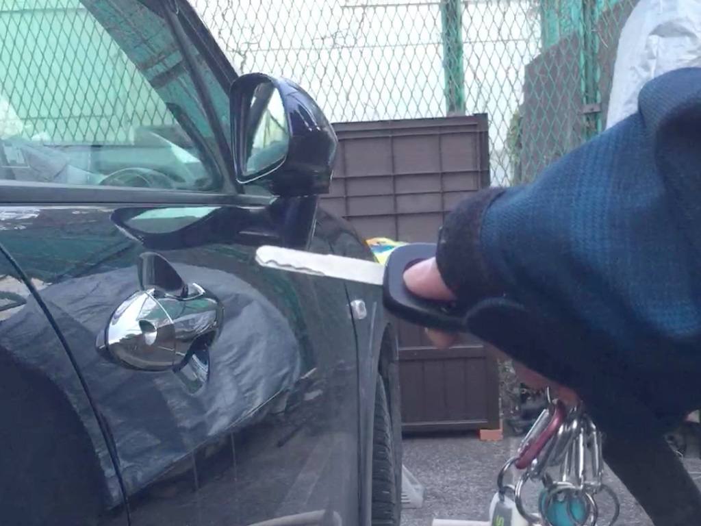 [動画]キーレス連動ドアミラー格納装置 取り付け ストリーム RN6~8